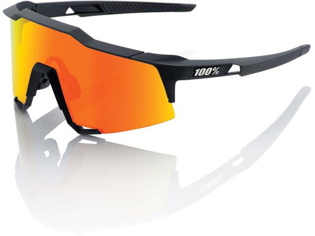 100% Speedcraft Glasses Tall soft tact black | hd red multilayer lense/hiper lense